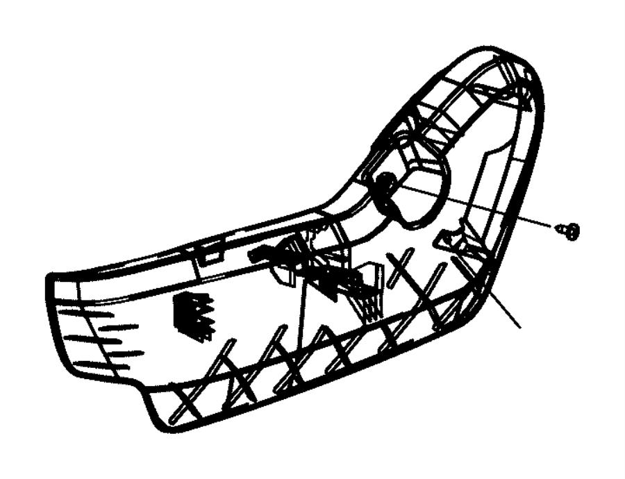 Dodge Grand Caravan Seat Frame Trim Panel. MANUAL, inner