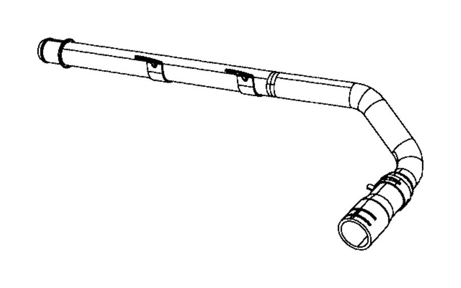 Dodge Magnum Engine Coolant Pipe Clamp. 2.7 LITER, lower