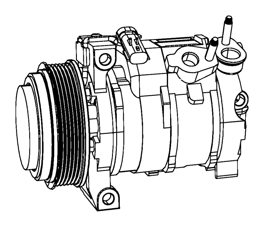 Chrysler Town & Country Air conditioning (a/c) compressor