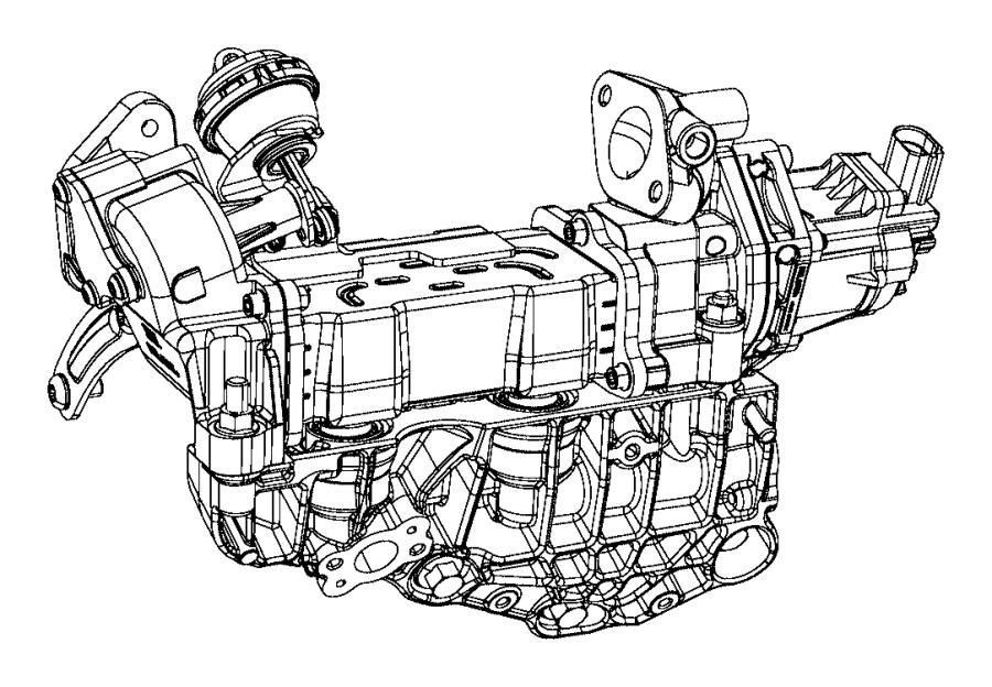 Jeep Grand Cherokee Cooler. EGR valve. Make, Repair