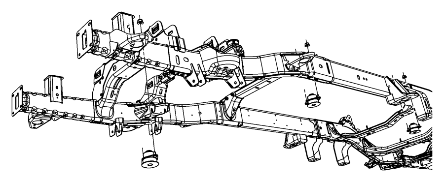 Dodge Ram 1500 Body Mount Cushion. WHEELBASE, Front, FRAME