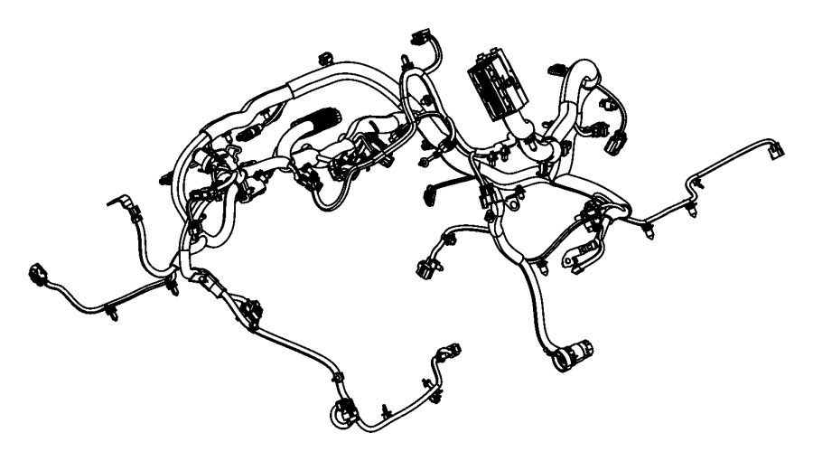Jeep Wrangler JK Engine Wiring Harness. 4WD, auto trans