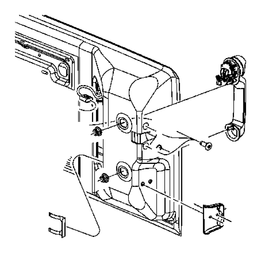 Jeep Wrangler Exterior Door Handle. Handle, outside