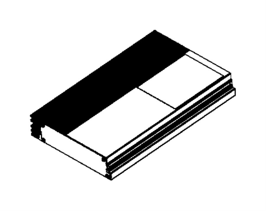 Dodge Challenger Radio Amplifier. 2015-20, 504 watt. 2015