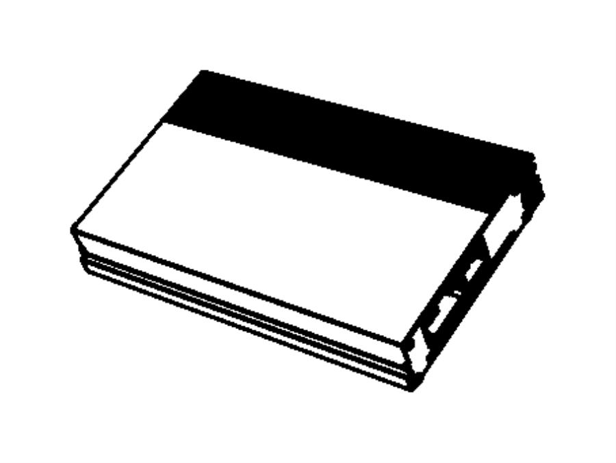 Dodge Challenger Radio Amplifier. 2015-20, 276 watt. 2015