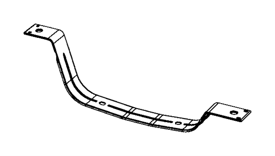 Jeep Grand Cherokee Fuel Tank Strap (Front). Front. Rear