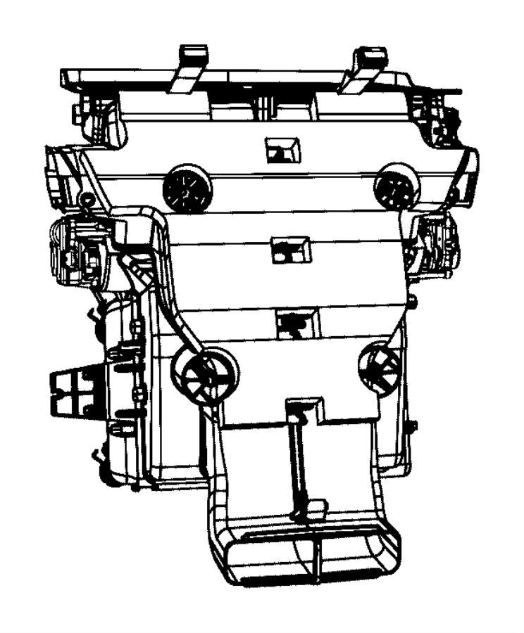 Jeep Grand Cherokee Hvac floor mode door actuator. Air