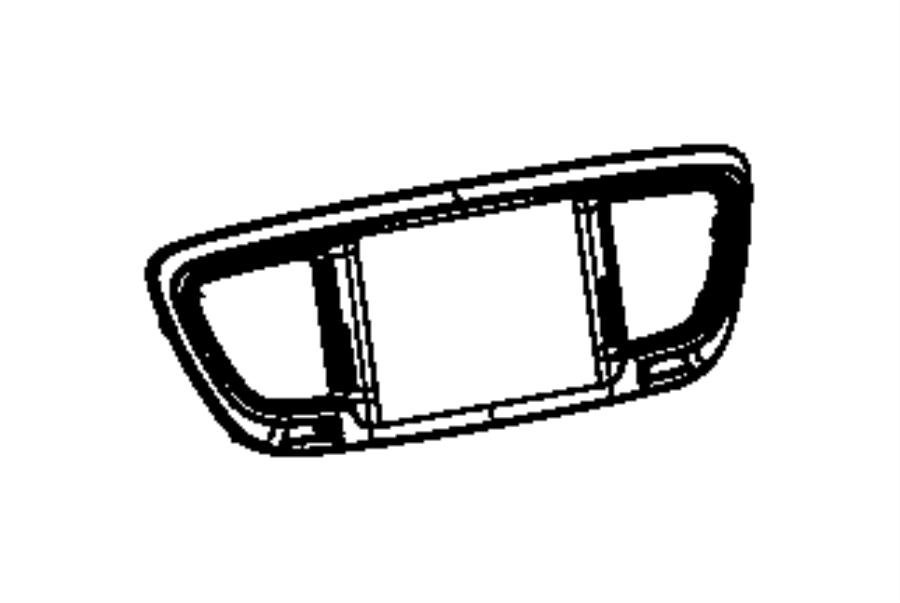 Chrysler Pacifica Radio Bezel. PANEL, INSTRUMENT, FCA