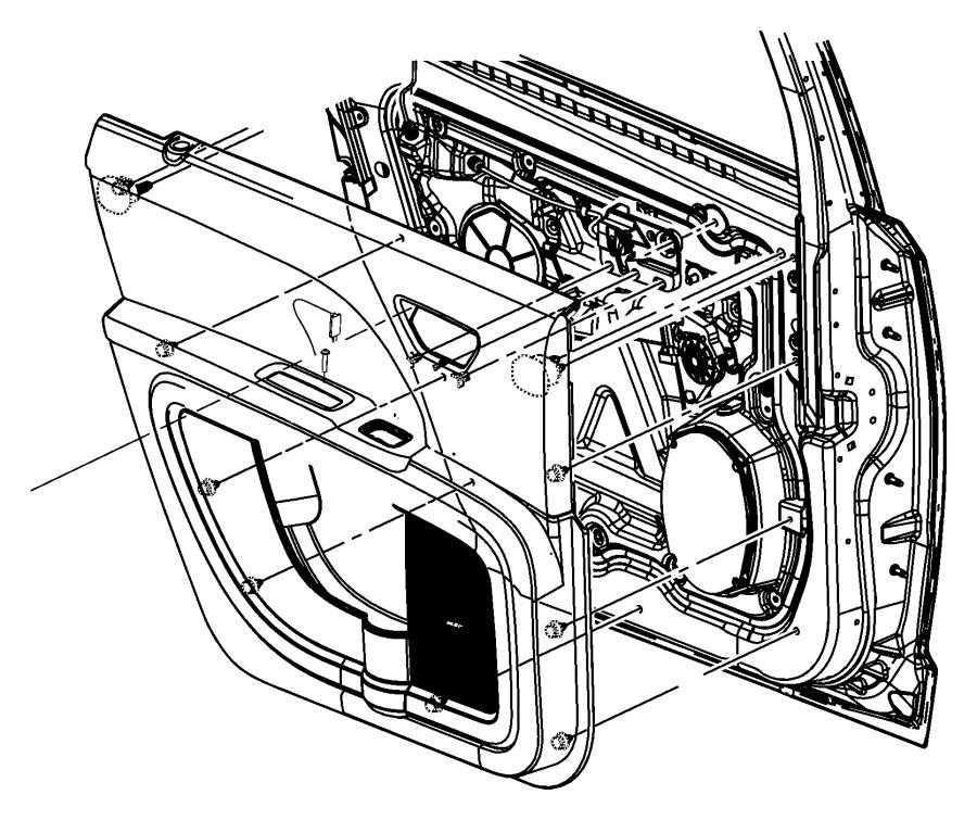Dodge Journey Door Interior Trim Panel. Base trim, black