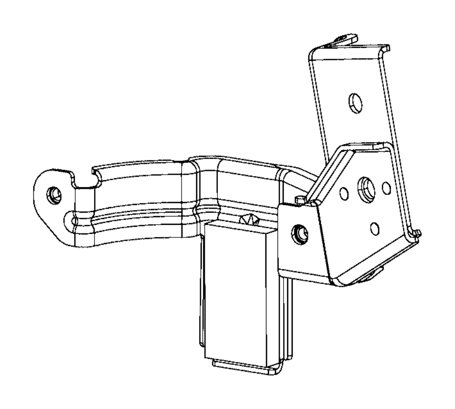 Ram ProMaster 1500 Fuel Filter. Water separator rear