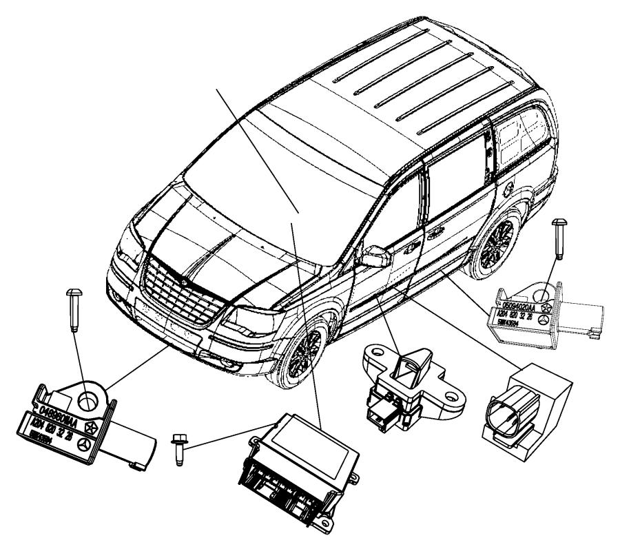 Dodge Grand Caravan Air Bag Impact Sensor. Crash, Left
