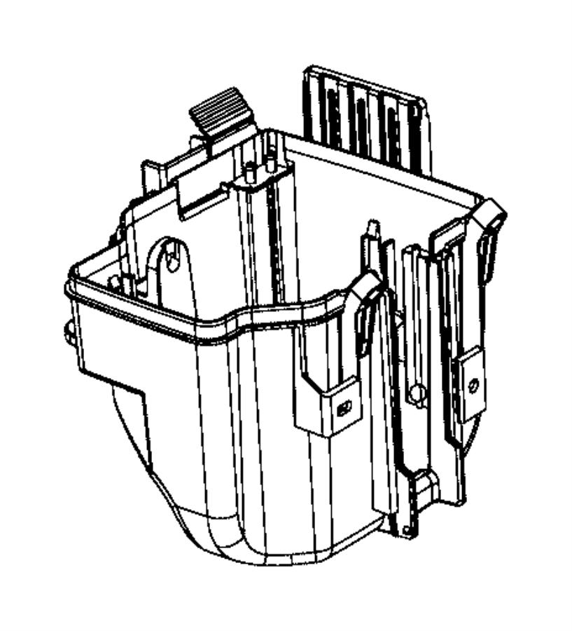 Ram ProMaster 1500 Fuse Box Cover. Telematics, Lower