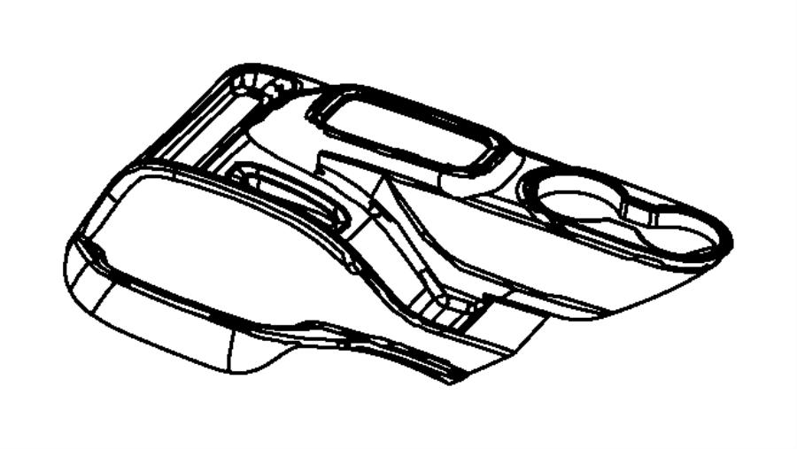 Jeep Wrangler Console Trim Panel. 2011-18, manual trans