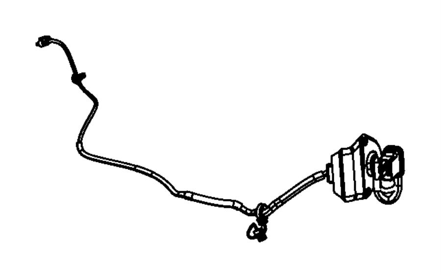 Jeep Compass Door Wiring Harness. Left, Rear, LOCK, FCA
