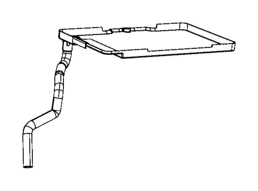 Jeep Compass Battery Tray. W/O AUTO STOP-GO, manual trans