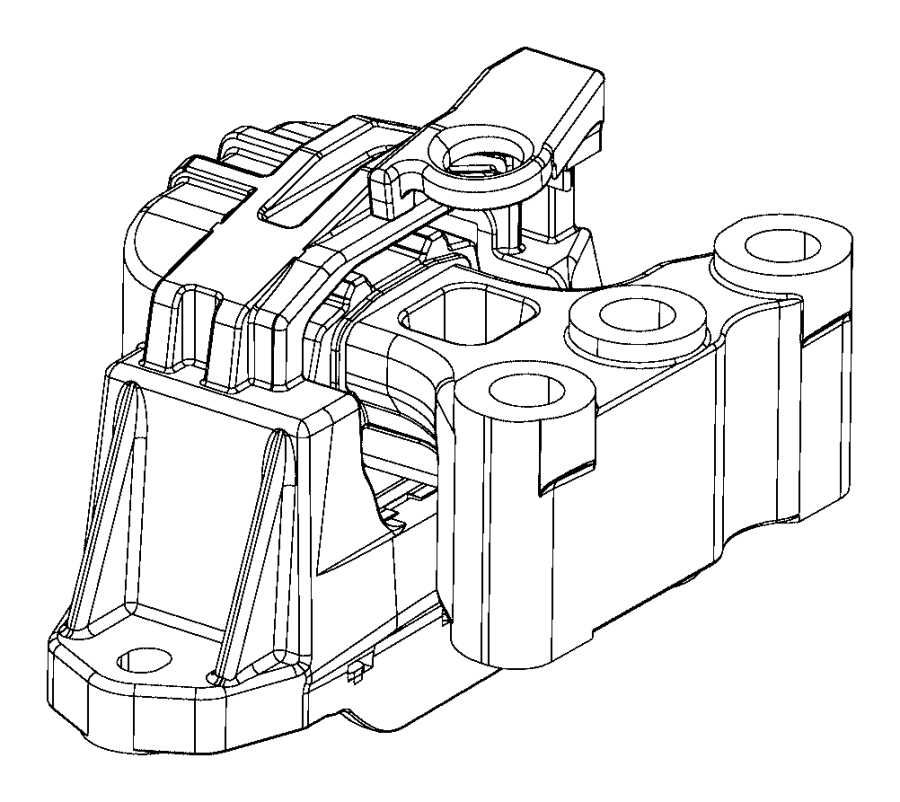 Jeep Compass Engine Mount (Front). Compass; Right; Manual