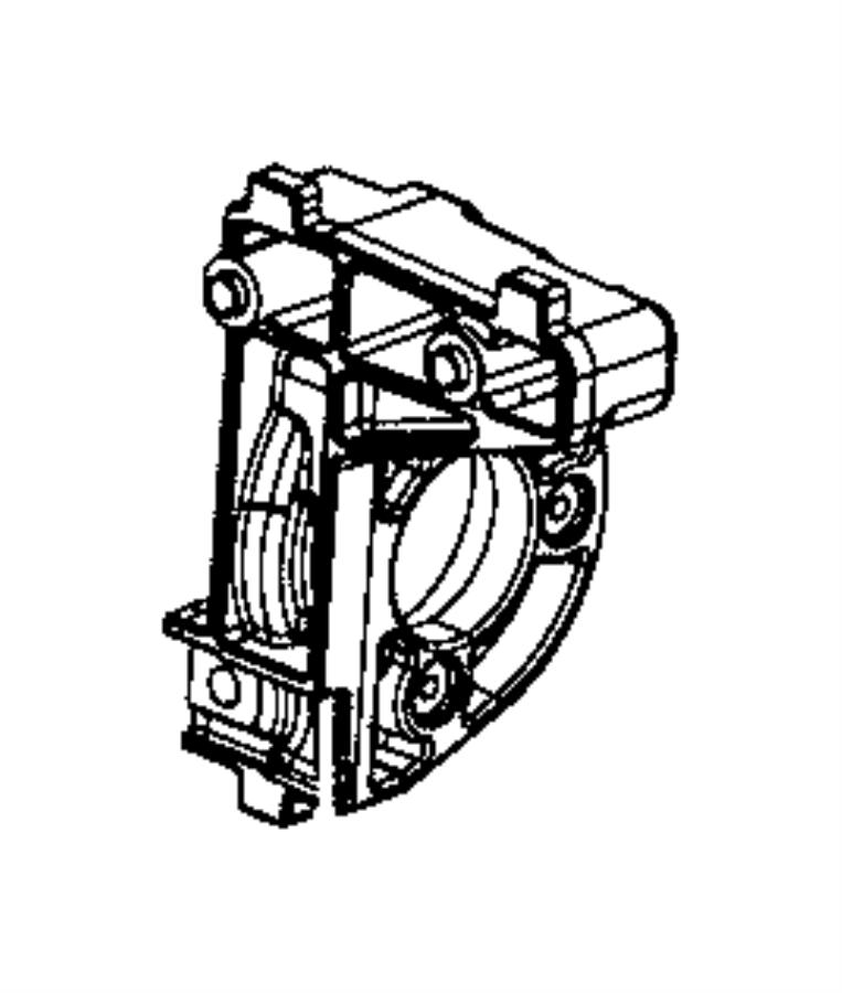 Jeep Compass Cv axle shaft carrier bearing. Front, sharp