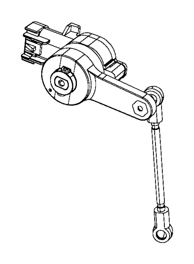 Chrysler 300 Headlight Level Sensor (Rear). 300. W/HID