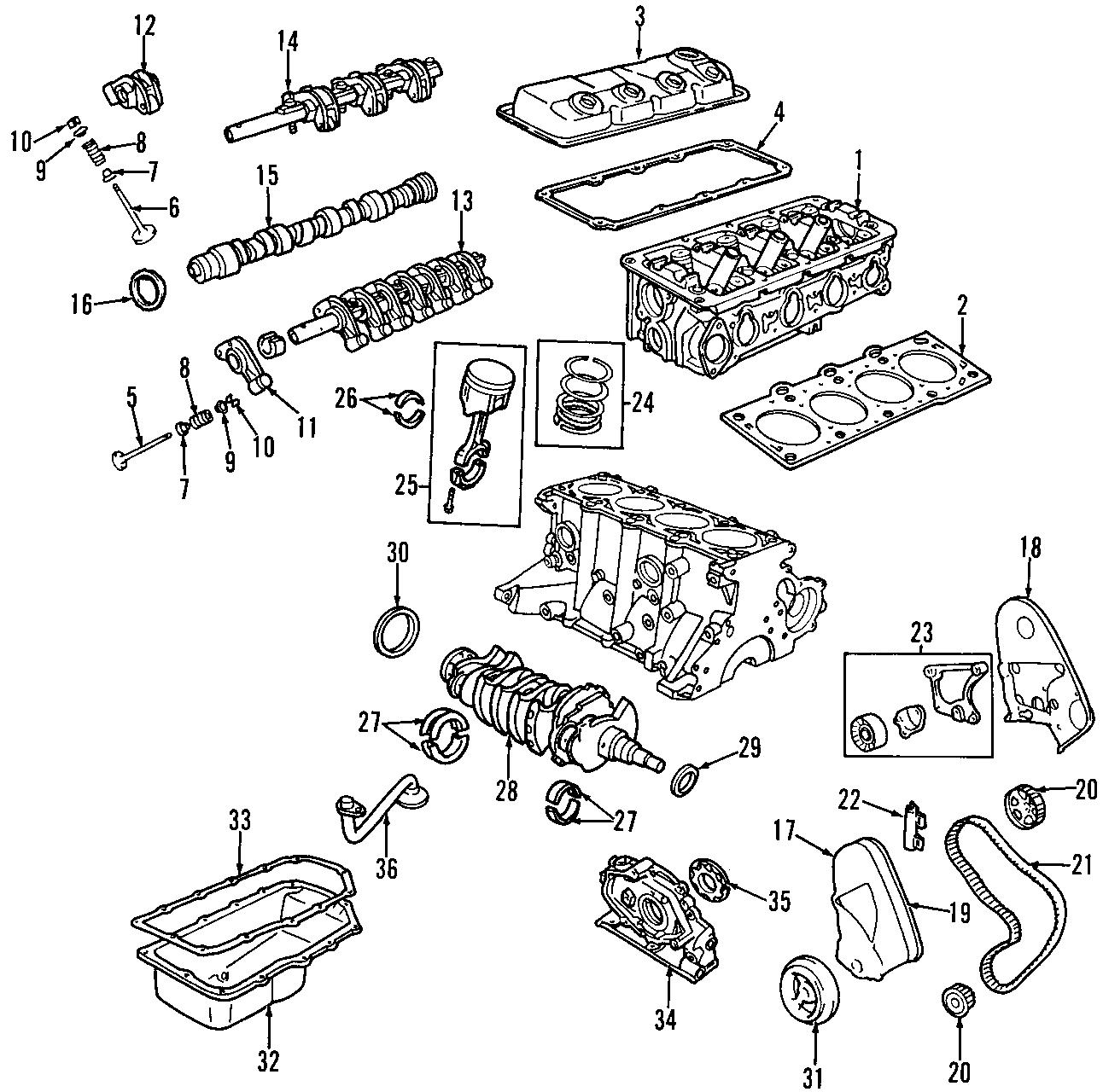 Dodge Stratus Engine Cylinder Head Gasket Set. All Models