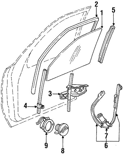 Chrysler New Yorker Lower channel. Track. Rear. W/bracket