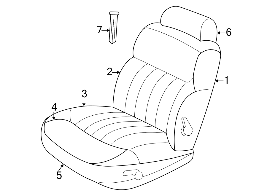 Chrysler Concorde Headrest Guide. Release, Button, Taupe