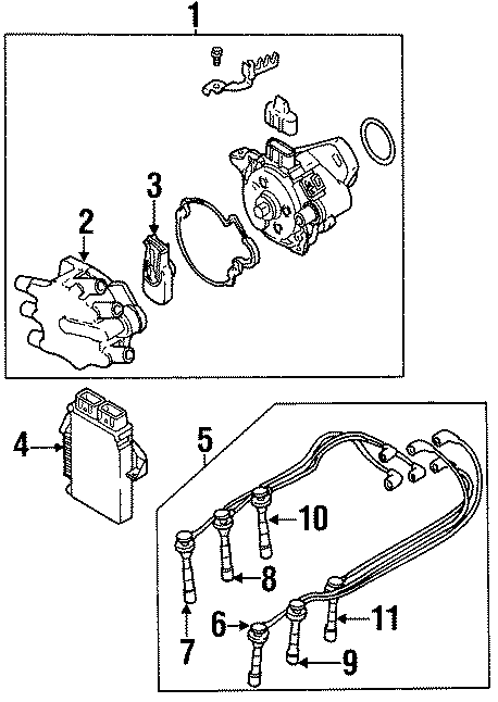 Chrysler Cirrus Engine Control Module. 6 CYLINDER. 6