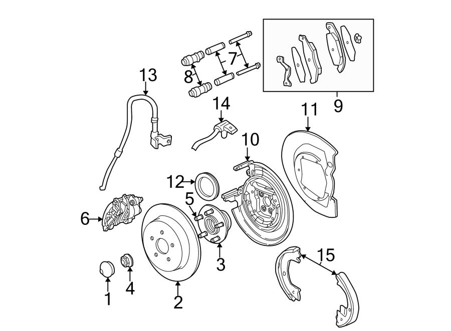 Chrysler PT Cruiser Abs wheel speed sensor (front