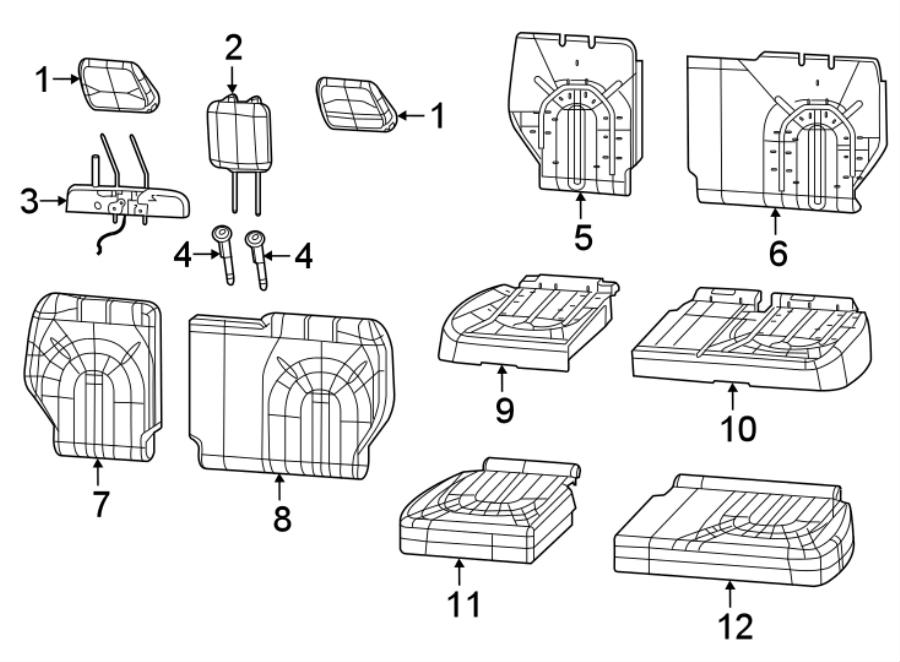 Chrysler Voyager Headrest Guide. POWER, FOLDING, CODE