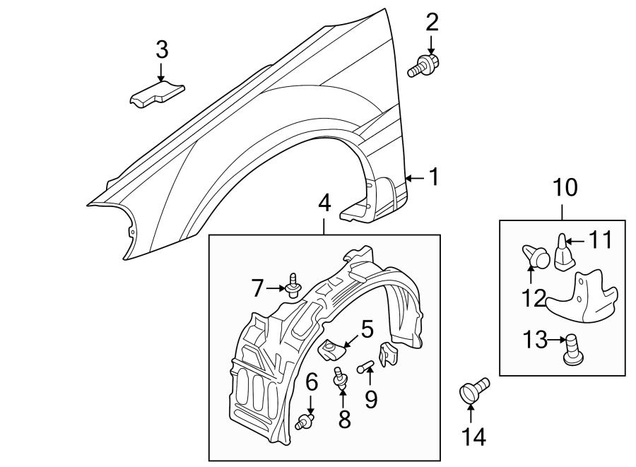 Chrysler Sebring Fender Molding Screw. #1. Coupe, #1. Left