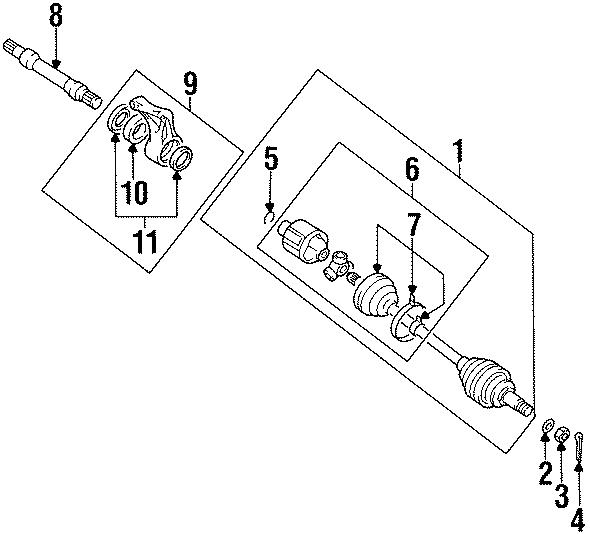 Chrysler Sebring Cv joint cotter pin. Right, left, awd