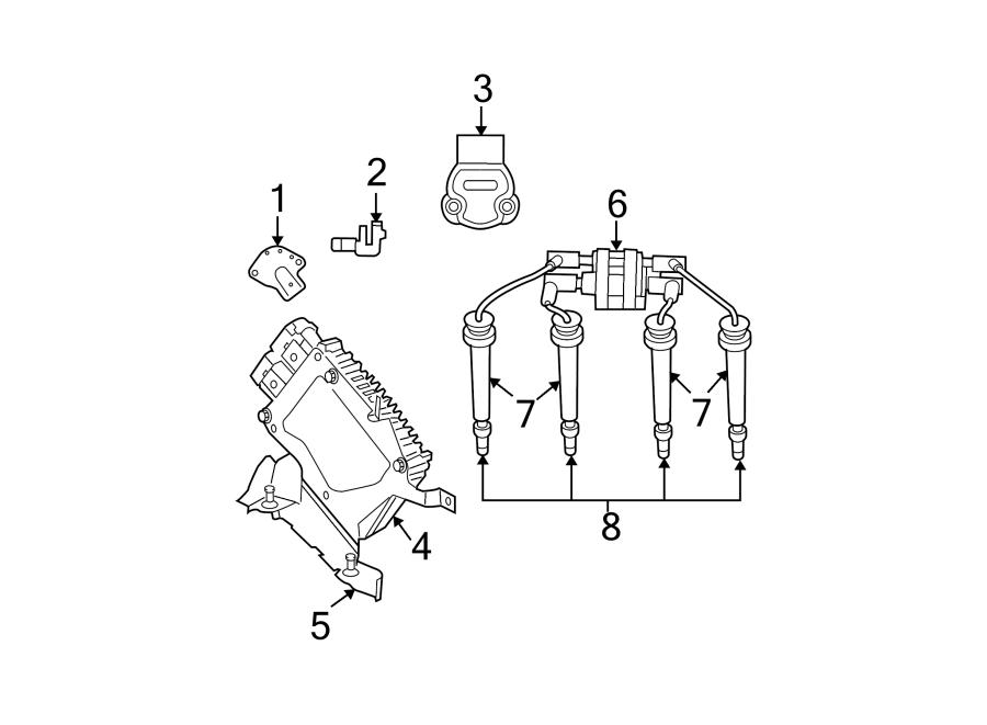 Chrysler Sebring Camshaft. Sensor. Position. Engine. Pkg