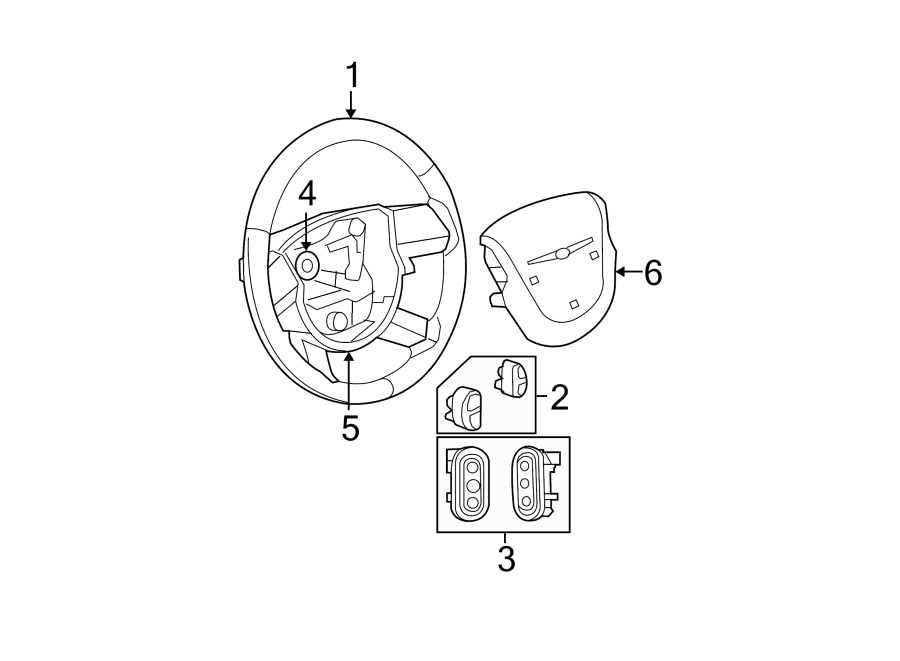 Chrysler Sebring Steering Wheel Radio Controls. Switch