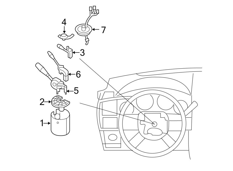Chrysler 300 Module. Steering control. 2008-11. W