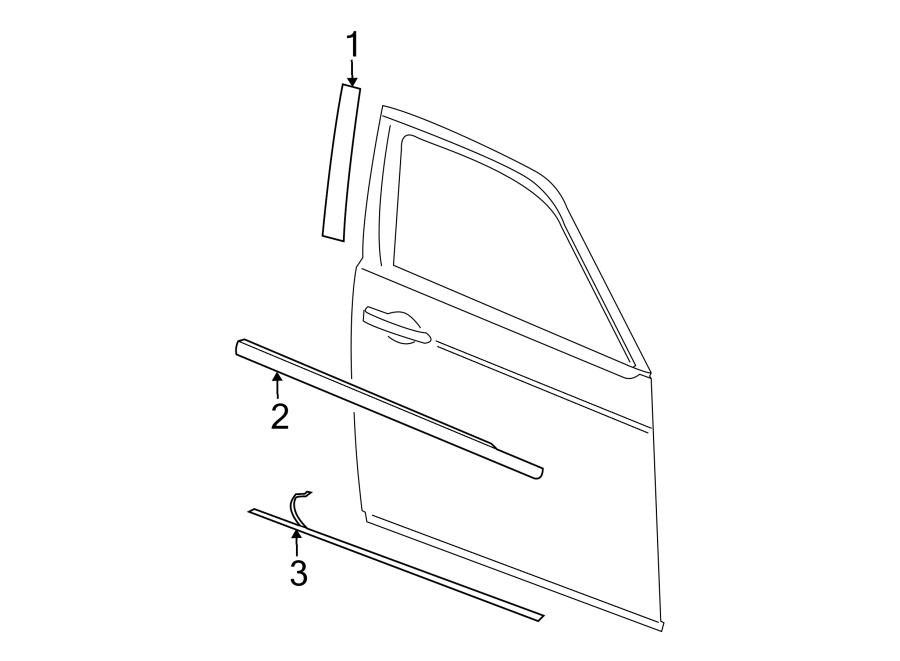 Dodge Charger Door Window Belt Weatherstrip (Front