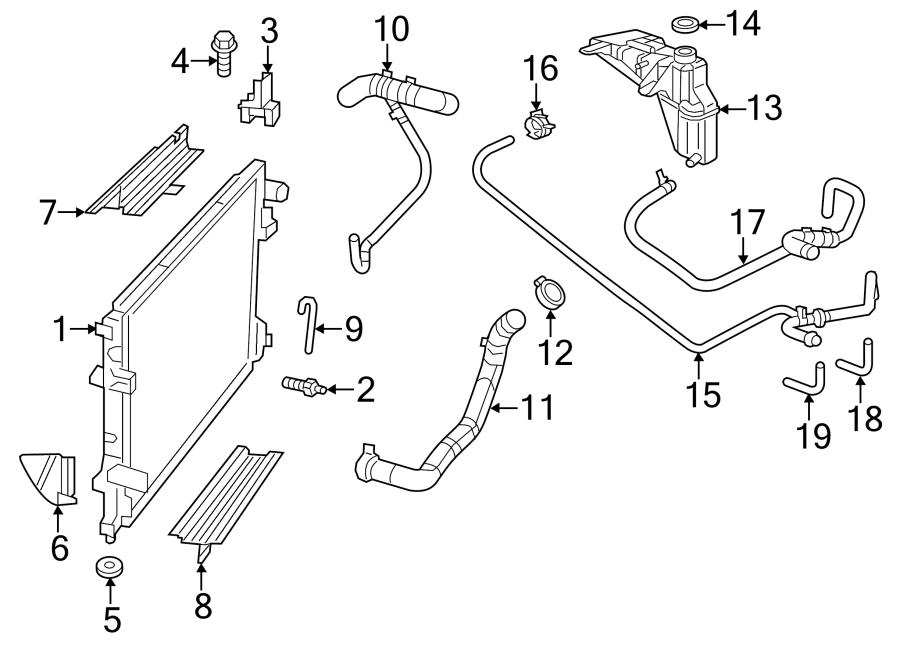 Dodge Charger Radiator Coolant Hose (Upper, Lower