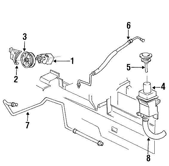 Dodge Intrepid Power steering pump bracket. Power steering