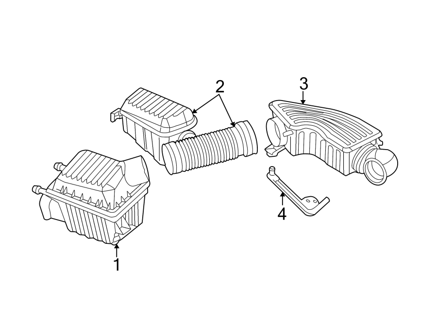 Dodge Intrepid Engine Air Intake Resonator. 2.7 LITER