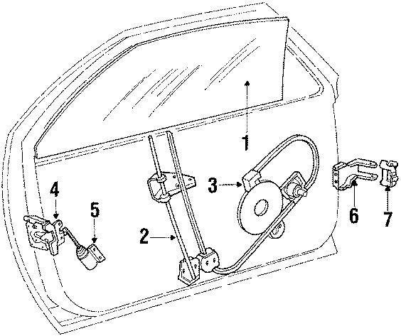 Chrysler LeBaron Lower hinge. Door, CONVERTIBLE, Half
