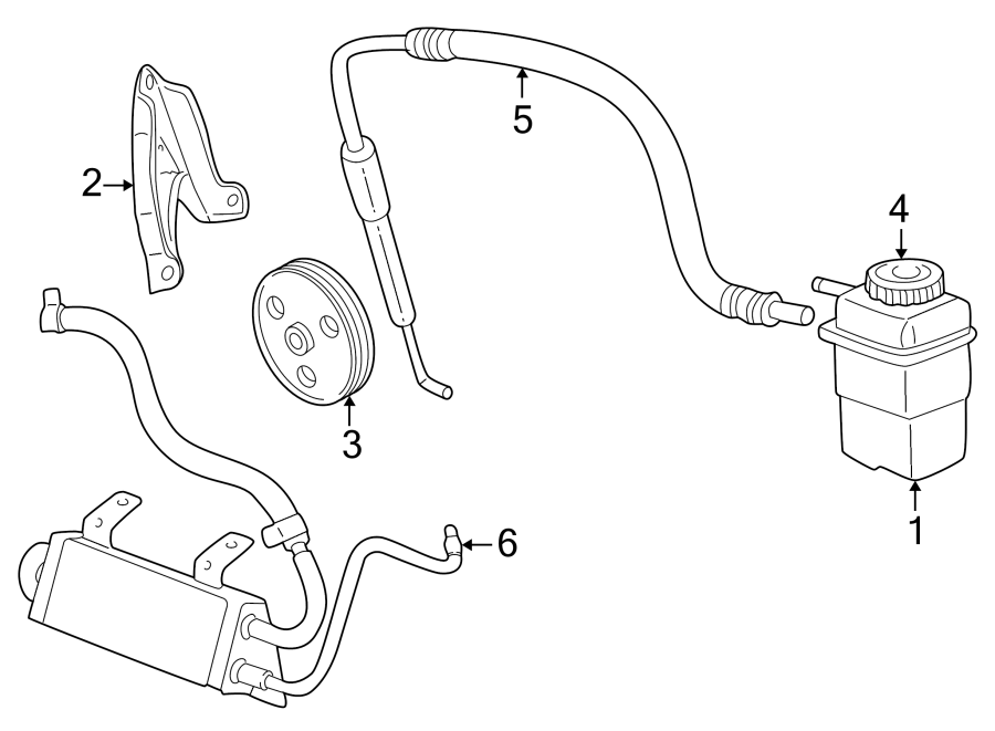 Dodge Neon Power Steering Pump Pulley. 2.0 liter