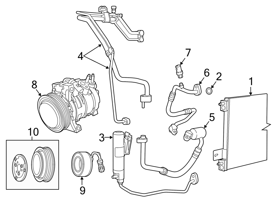 Dodge Caliber A/c condenser. Air, conditioning