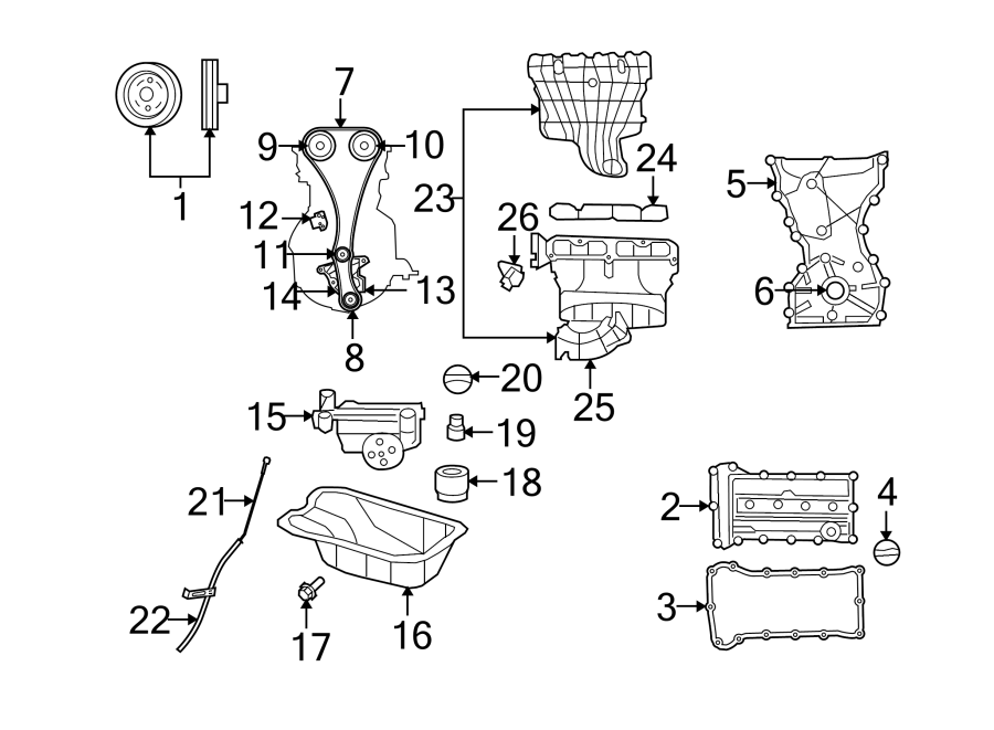Dodge Caliber Engine Oil Pump. Caliber; 2.0L. Compass; 2