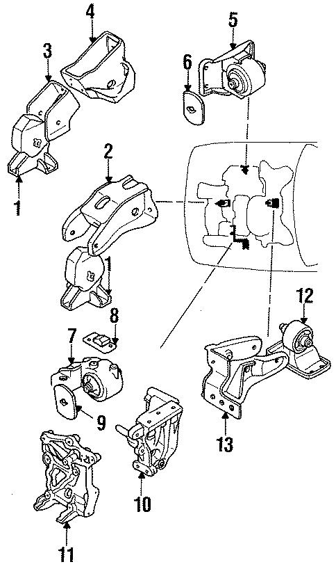 Dodge Stealth Lower bracket. DOHC. ENGINE, TRANSAXLE