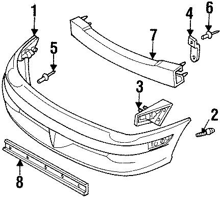 Dodge Neon Cover. Rivet. Bumper. Grille. Retainer. 2000-02