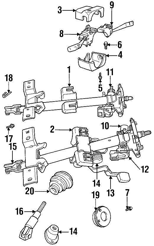 Dodge Neon Combo switch screw. Lower cover screw. SELF