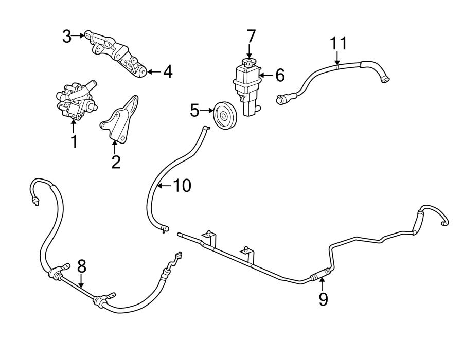 Dodge Stratus Power Steering Pump Pulley. 2.7 LITER