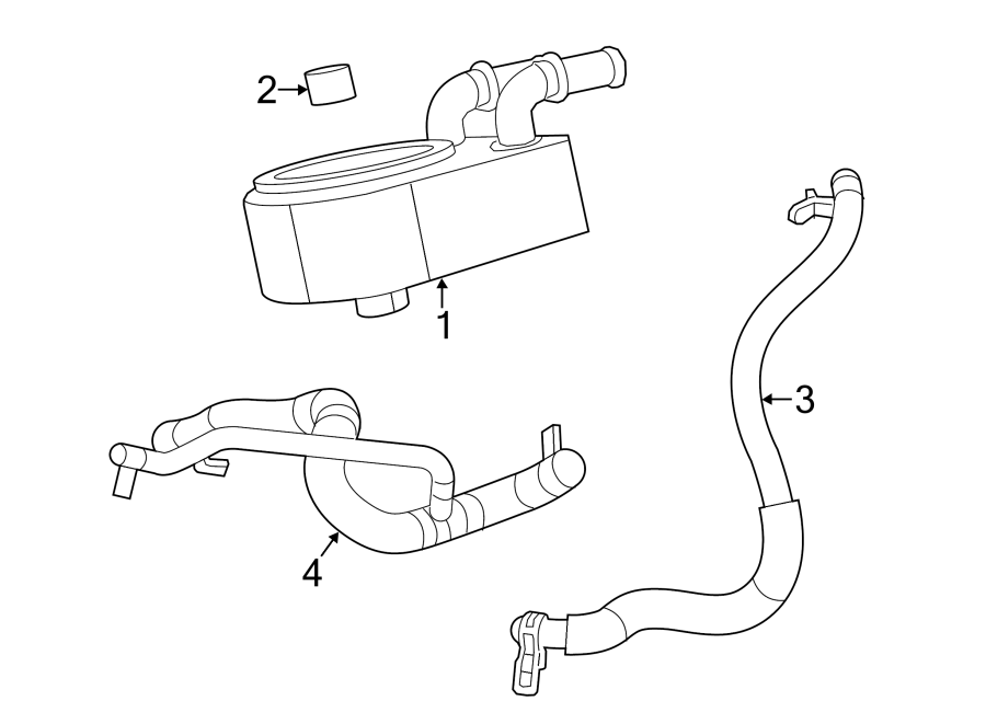 Dodge Avenger Engine Coolant Hose. 2.4 LITER. CONVERTIBLE