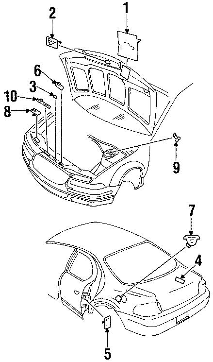 Dodge Stratus Emission Label. 2.4 liter, California. 4