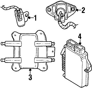 Dodge Stratus Engine Control Module. 4 CYLINDER, 2.0 liter