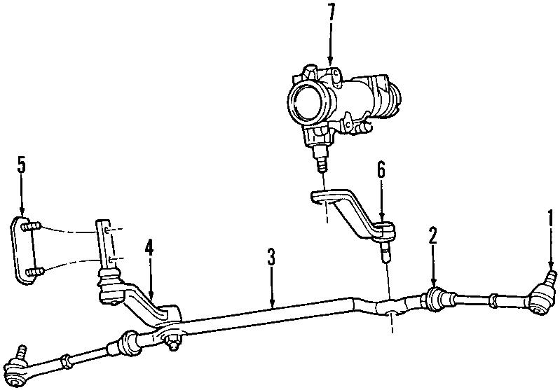 Dodge Dakota Thrust bearing kit. Dakota. Steering