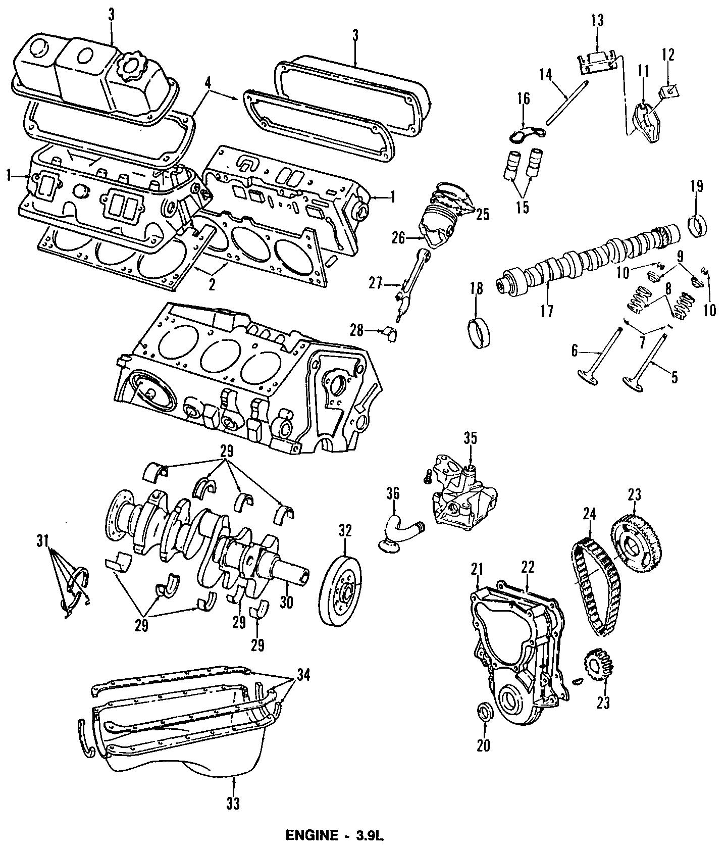 Dodge D250 Engine Timing Cover Gasket. LITER, CYLINDER